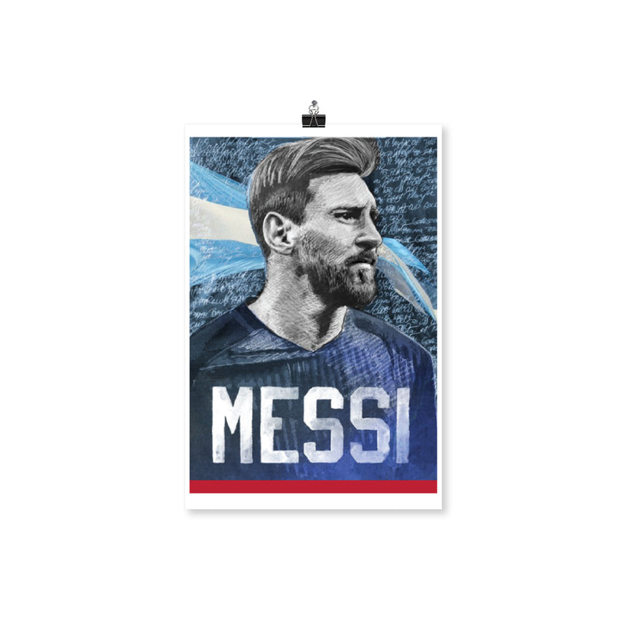 Iconic Messi Portrait Poster