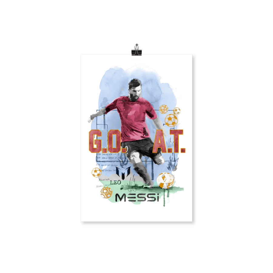 Messi GOAT Poster