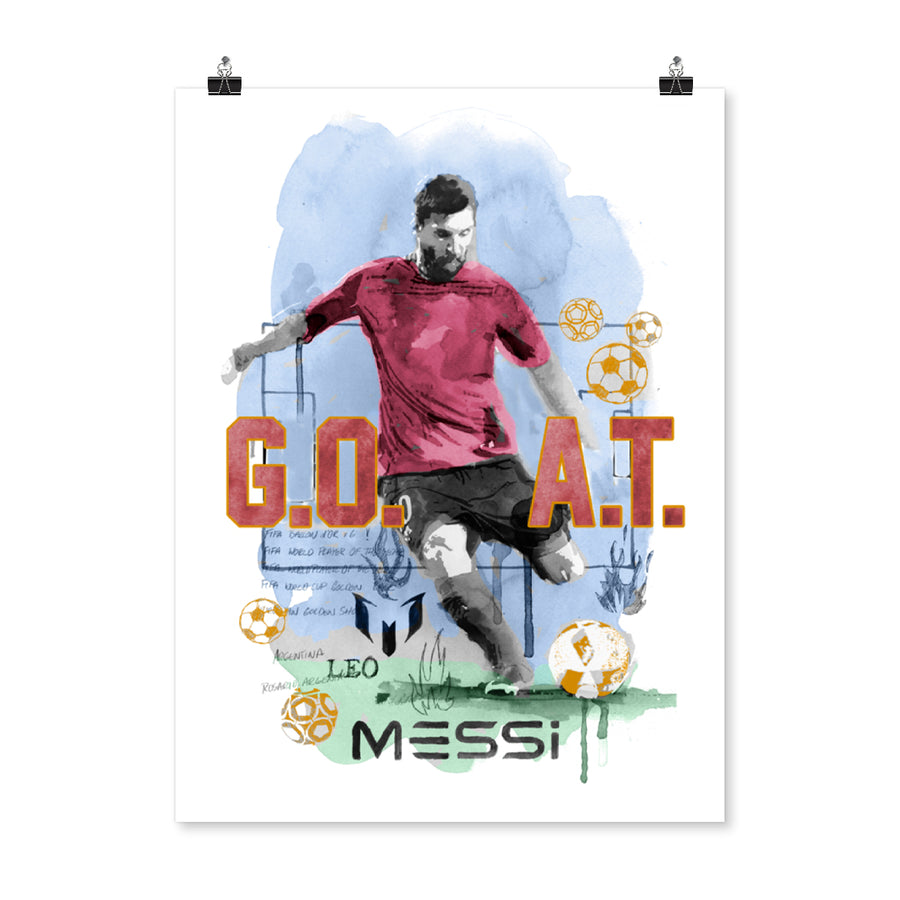 Poster Messi GOAT
