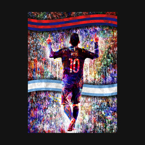 Camiseta Estampada Messi Silueta Multitud