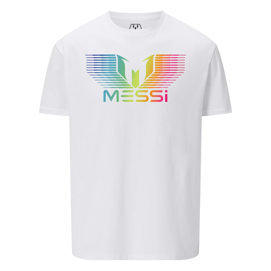 MESSI Rainbow Gradation Logo T-Shirt