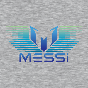 Messi Blue Green Gradation Graphic T-Shirt