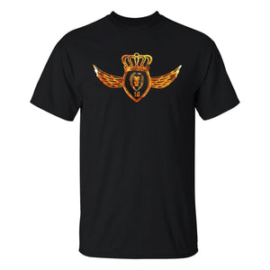 Lion Foil Crest T-Shirt - Black
