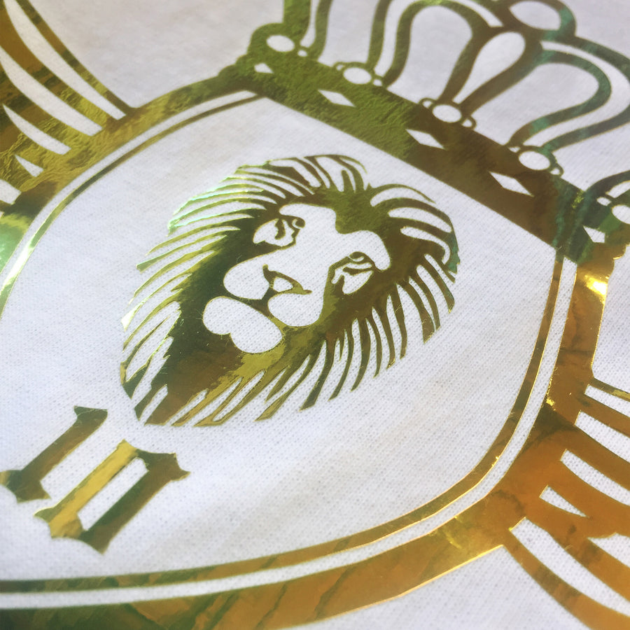 Lion Foil Crest T-Shirt - White