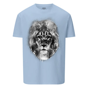 Black & White Lion Head Logo Graphic T-Shirt