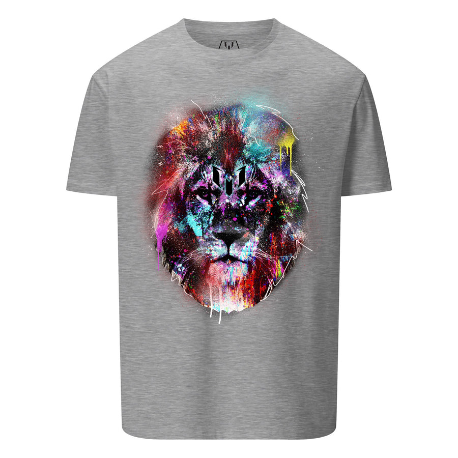 Colorful Lion Head Logo Graphic T-Shirt