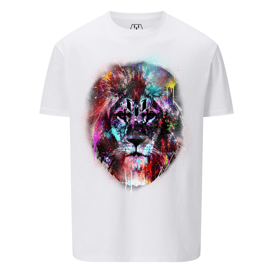 Camiseta Estampada Logo Messi Leon Colores