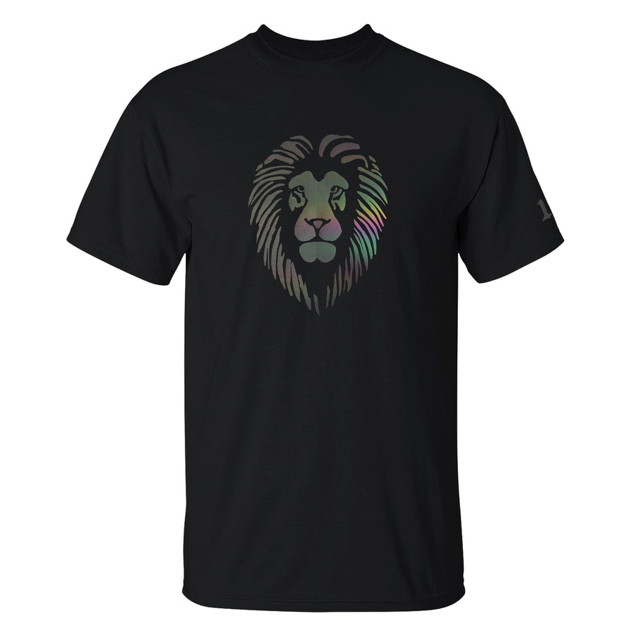 Reflective Lion Head T-Shirt - Black