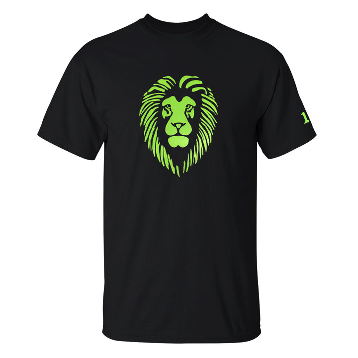 Reflective Lion Head T-Shirt - Neon