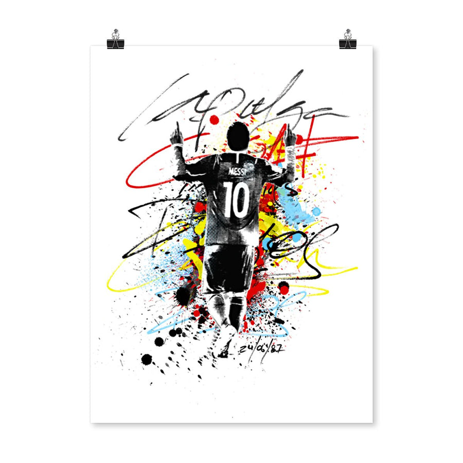 POSTER MESSI LA PULGA SPLASH