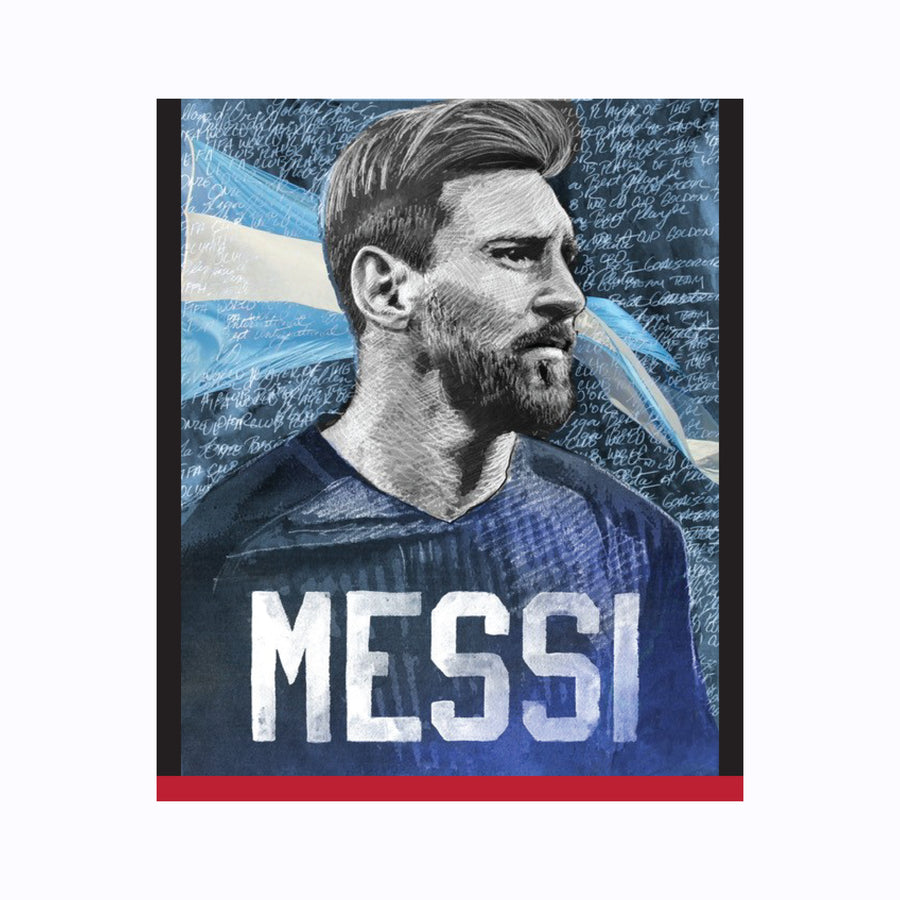 Iconic Messi Portrait Kid's Graphic T-Shirt