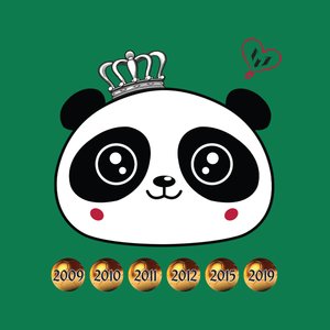 Panda Face Sixth Ballon d'Or Kid's T-Shirt