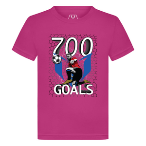 700 Goals Messi Silhouette Kid's Graphic T-Shirt