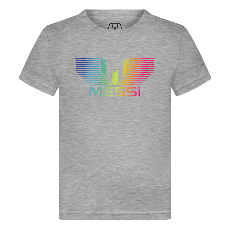 MESSI Rainbow Gradation Logo Kid's T-Shirt