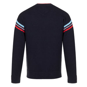 Messi M Striped Mock Neck Sweater