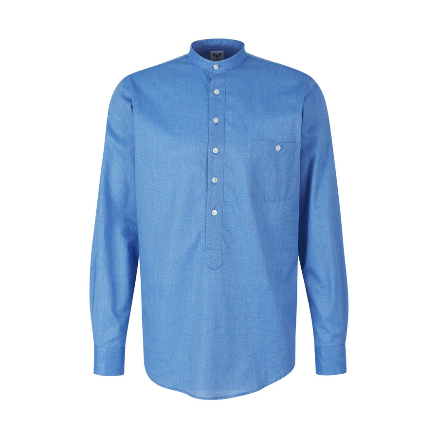 Messi Banded Collar Cobalt Shirt
