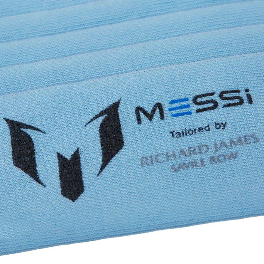 Messi Contrast Top Heel & Toe Socks