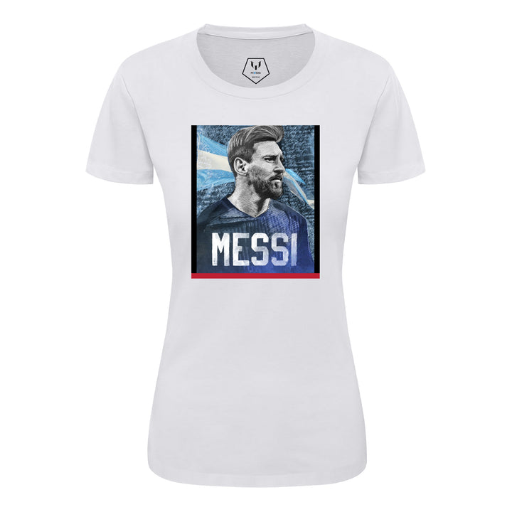 Iconic Messi Portrait Women's Graphic T-shirt