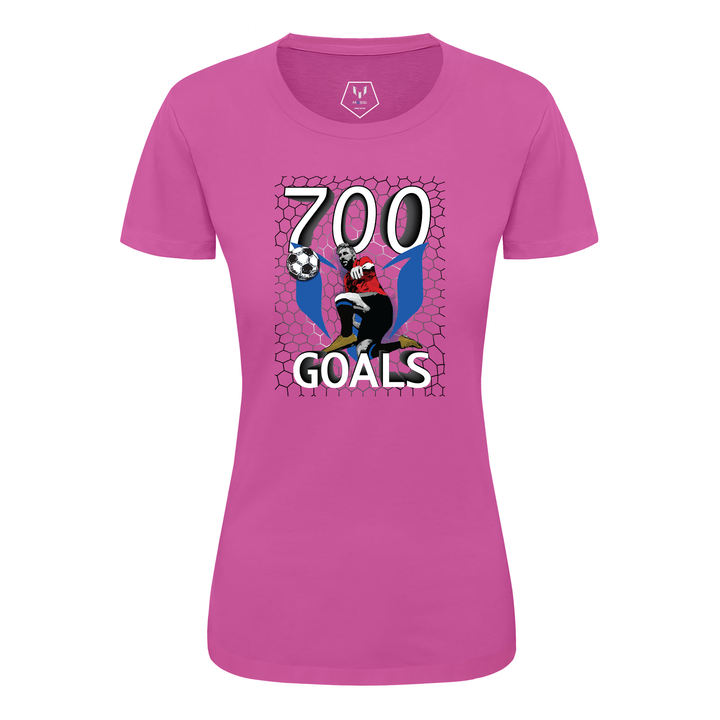 700 Goals Messi Silhouette Women's Graphic T-Shirt