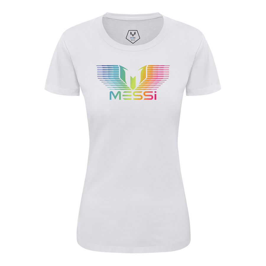 MESSI Rainbow Gradation Logo Women's T-Shirt