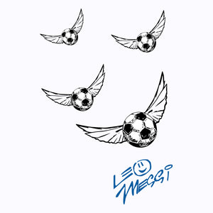 Flying Soccer Ball Women's Graphic T-Shirt