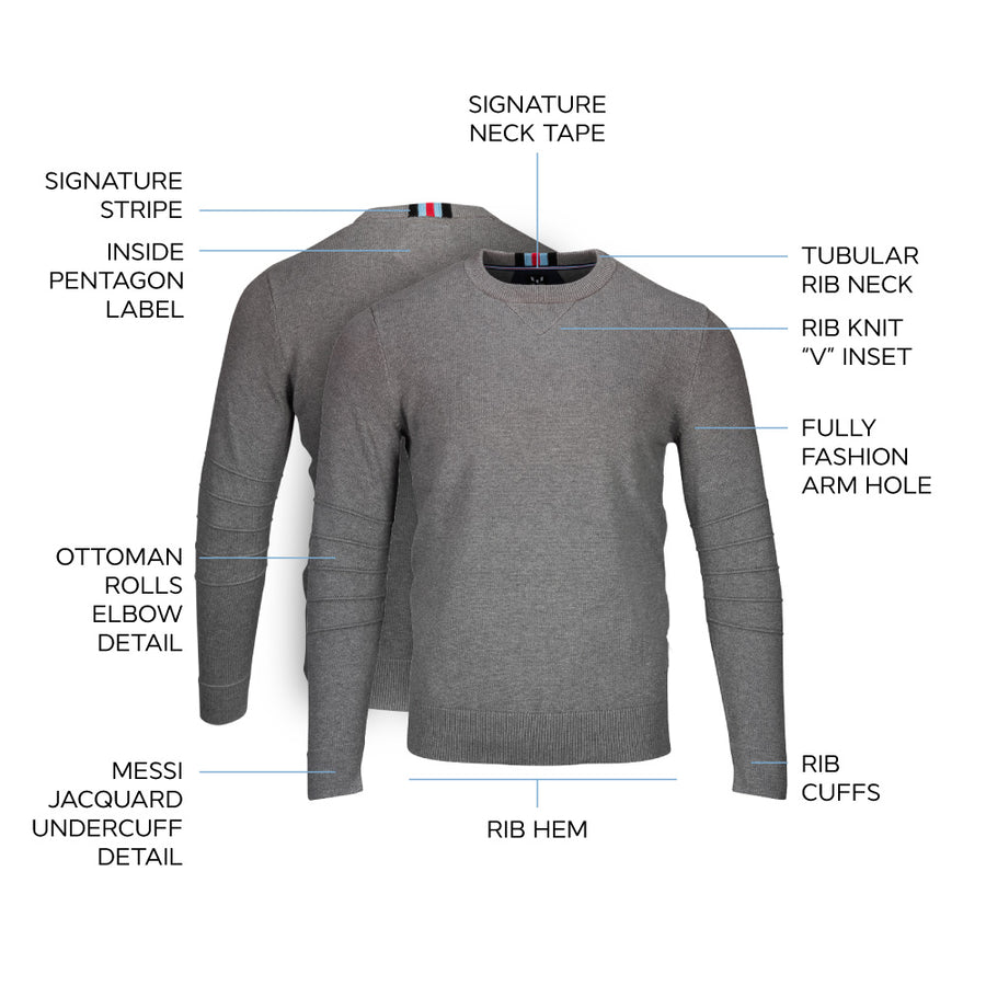 Messi Signature Crewneck Sweater - Heather Gray