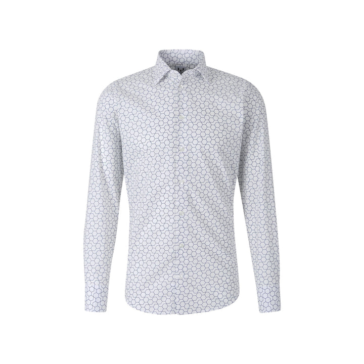 Messi Hexagon Contemporary Collar Dress Shirt