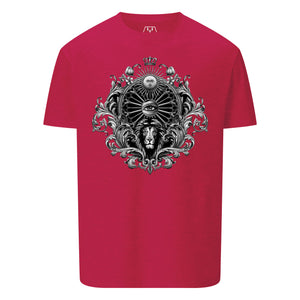 Leo Tattoo Montage T-Shirt - Red
