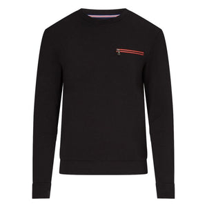 Messi Zip Pocket Sweatshirt - Black