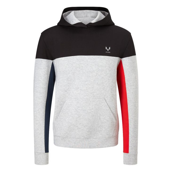 Messi Contrast Pullover Hoodie - Heather Gray