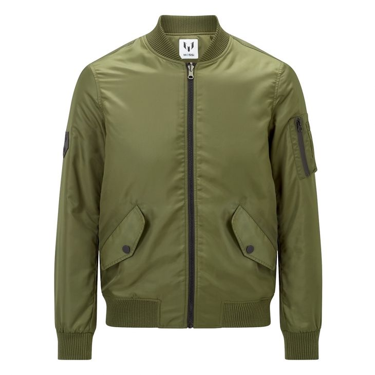 Messi Reversible Bomber Jacket - Olive