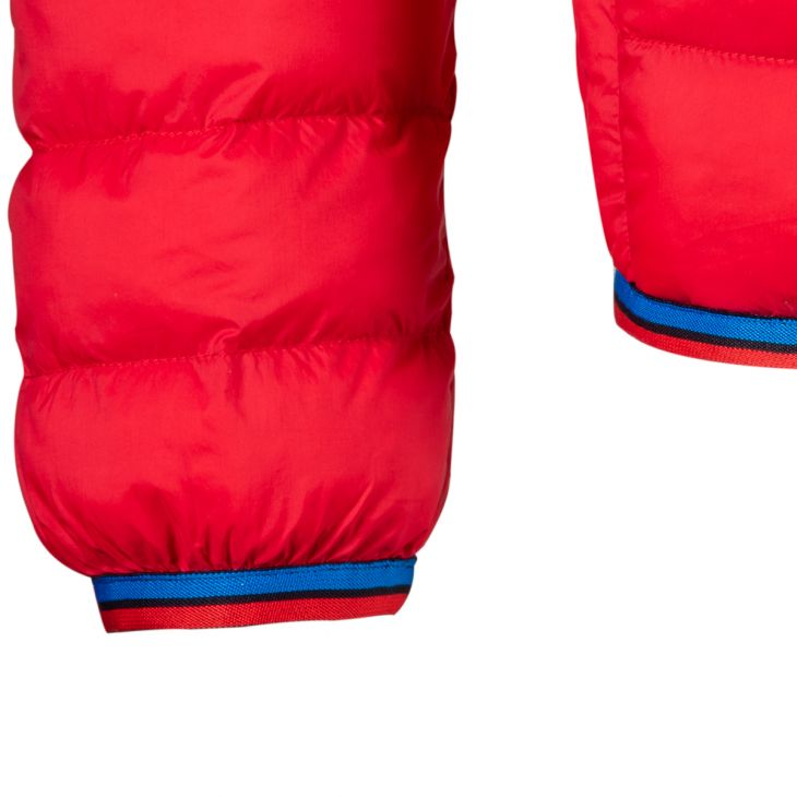 Classic Lightweight Down Hooded Jacket - Red