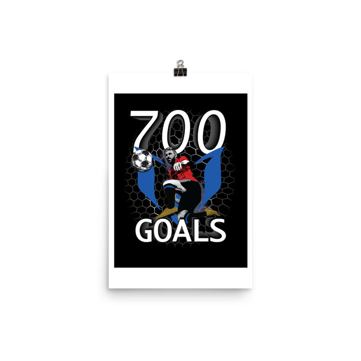700 GOALS Messi Silhouette Poster