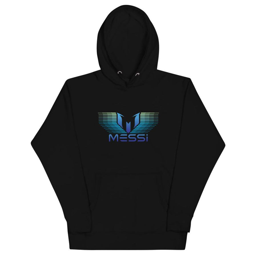 Messi Blue Green Gradation Logo Hoodie