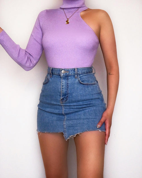 Good Together Ribbed Knit Top - Purple - Kameli Boutique
