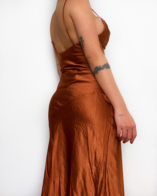 Hazel Satin Maxi Dress