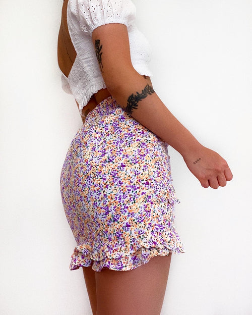 Lynn Floral Mini Skirt - Light