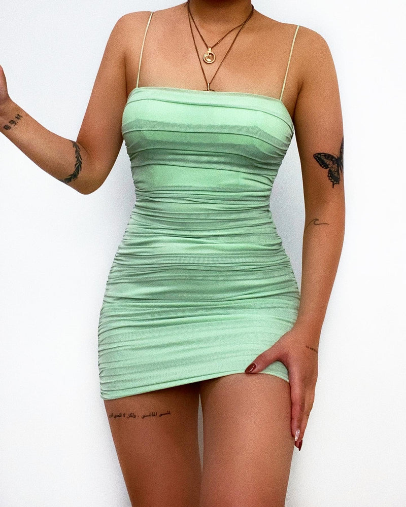Walker Mini Dress - Light Green