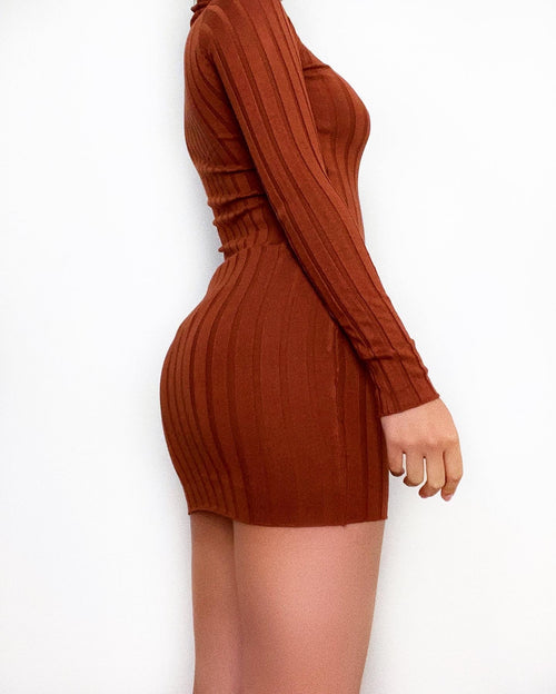 Anders Mini Dress - Brown