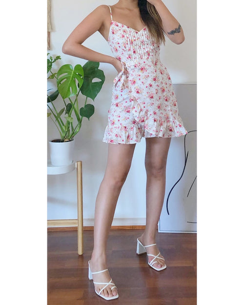 Audrey Floral Mini Dress - Kameli Boutique