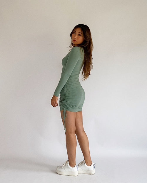 Aquarius Mini Dress - Sage