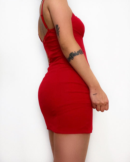 Byron Mini Dress - Red