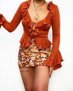 James Sheer Blouse - Rust