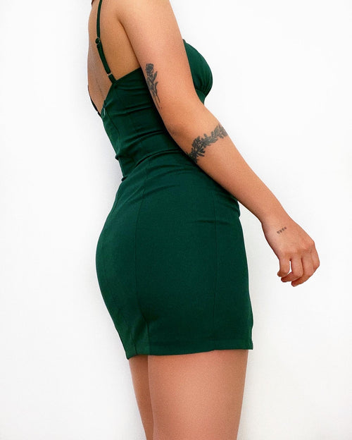 Byron Mini Dress - Green