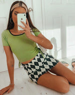 Jellybean Crop Top - Green