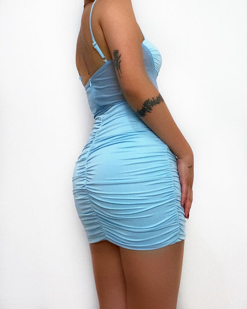 Claire Mini Dress - Blue