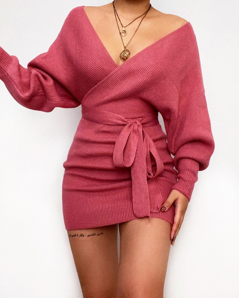 Marie Knit Dress - Rose