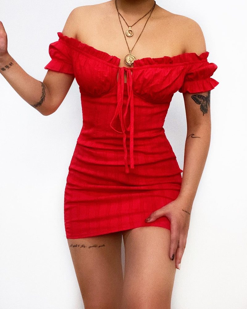 Romeo Mini Dress - Red