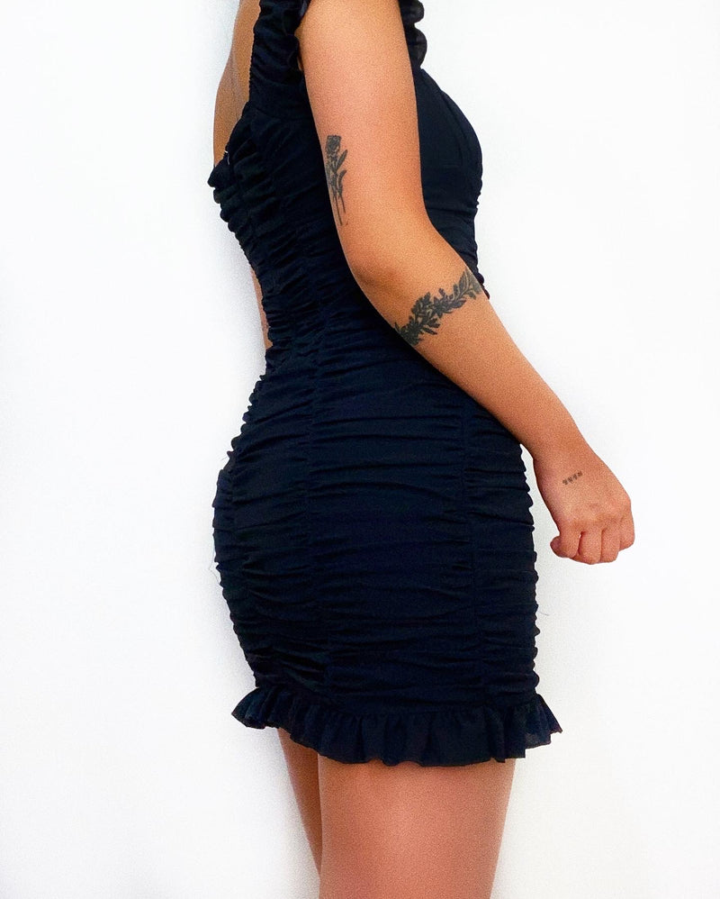 Norlan Mini Dress - Black