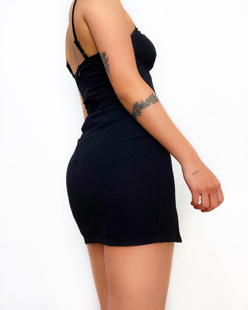 Byron Mini Dress - Black